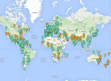 World Wetlands Day 2014 Reports Map