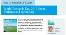 World Wetlands Day 2014 UNESCO-IHE article